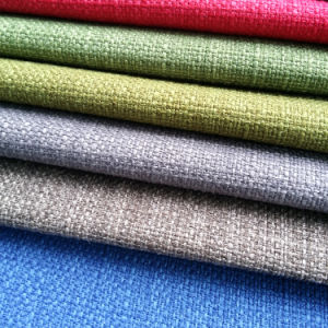 Solid Linen Like Dobby Woven Plain Upholstery Sofa Fabric