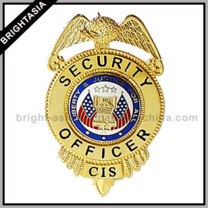 Professional Custom Metal Police Badge for Decoration (BYH-10039) pictures & photos