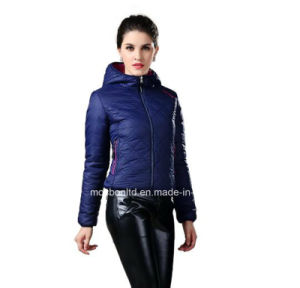 New Style Reversible Diamond Feather 2 in 1 Down Jacket Winter Woman Coat Clothes with Hoodies Winter Jacket pictures & photos