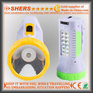 Rechargeable 1W LED Torch with 12 LED Table Light (SH-1959)