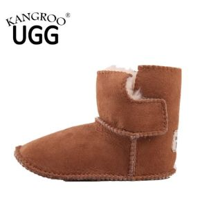 Unisex Twin Face Sheepskin Kids Boys Girls Winter Booties pictures & photos