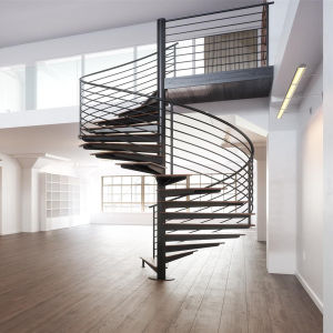 Prefabricated Spiral Stairs Wood Stairs Design Pr-S59 pictures & photos