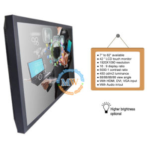42 Inch Touch Screen TV LCD Monitor with USB HDMI DVI VGA Input (MW-421MBT) pictures & photos