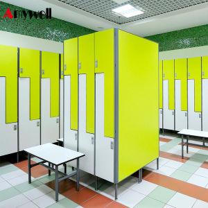 China hpl gym locker bathroom furniture cheap shower locker 12 door