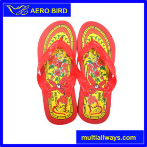 ba34e8b04 China PVC Durable Footwear with Big Flower Design - China Slipper ...