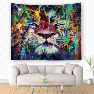 Home Decor Tiger and Lion Animinal Printed Wall Tapestry