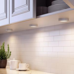 Natural White 6 Pack Led Under Cabinet Lighting Wireless Puck Lights