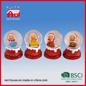 Resin Europe Snow Globe Christmas Gifts with LED Lights Cute Little Baby