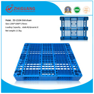 Warehouse Products Plastic Tray 1200*1000*170mm Rack Load Pallet HDPE Plastic Pallet with 3 Runners (ZG-1210A 3 steel) pictures & photos