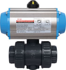 Ball Valve with Pneumatic Actuator Hat-75D pictures & photos