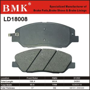 Adanced Quality Brake Pad (LD18008) for Korean Car pictures & photos