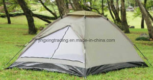 Outdoor Waterproof Polyester Camp Tent for 4 Persons (JX-CT018) pictures & photos