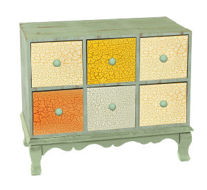 Storage Cabinet/ with 6 Drw Chest (RL01352-0855)