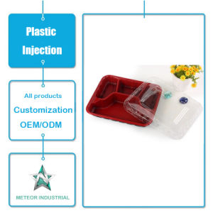 Customized Plastic Injection Mould Products Disposable Color Plastic Tableware Square Box