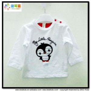 Long Sleeve Baby Clothes White Baby Girl T-Shirts pictures & photos