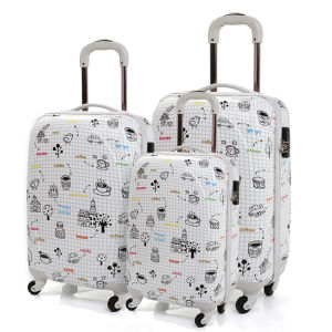 "100% PC Zipper Luggage PC Trolley Case PC Luggage Set Pcl004-20""24""28"" pictures & photos"