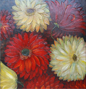 Colorful Chrysanthemum Flower Oil Painting by Hand (LH-700510) pictures & photos