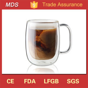 Customized Big Unbreakable Double Wall Glass Coffee Cup Mug pictures & photos