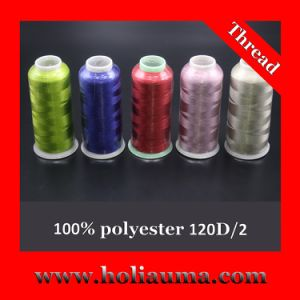 High Quality 100% Polyester Embroidery Thread pictures & photos