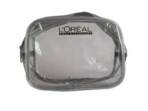 Branded Clear PVC Zipper Plastic Bags for Cosmetics (FLC-9113)