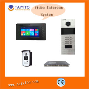 Network Cable TCP/IP Video Doorphone with Screen and Camera