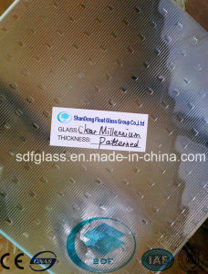 Clear Millennium Patterned Glass with Ce, ISO (3mm TO 8mm)