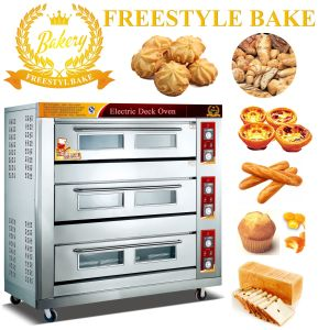 3 Decks 9 Trays Bakery Deck Oven for Industrial Using (WDL-3B)