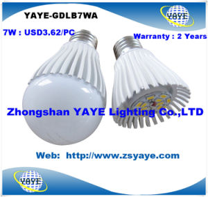 Yaye CE/RoHS Top Sell Competitive Price High Quality 7W E27 LED Bulbs / 7W LED Bulb Lightwith USD3.62/PC pictures & photos