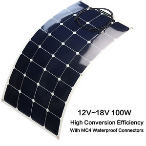 100W 50W 18V 12V High Efficiency Semi Flexible Sunpower Solar Module /Panel
