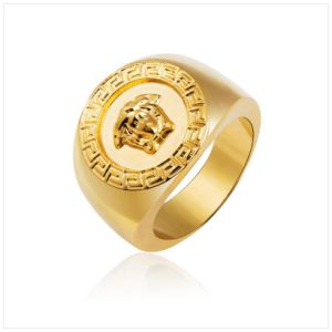 China Wedding Ring Golden Silver Medusa Ring 18k Real Gold Plated
