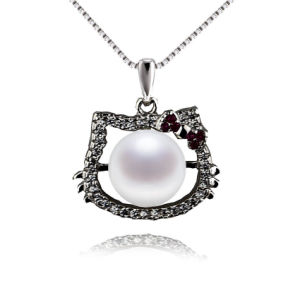 Hello Kitty Cat Shaped Cultured Pearl Pendant