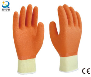 Cotton Yarn Latex Fully Coated Work Gloves pictures & photos