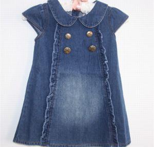 26581c3fe66e China 100% Cotton Infant Girl Denim Skirt for Baby Girl Jeans Dress ...