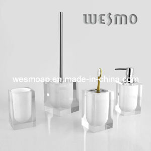 Transparent Polyresin Bathroom Set (WBP0202G) pictures & photos