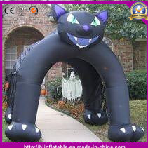 Hot Selling Good Halloween Inflatable Cat Arch for Halloween Decoration
