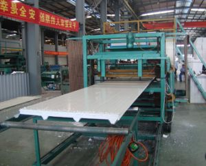 EPS Roof and Wall Sandwich Panel Machine (WLFM38-317-951) pictures & photos