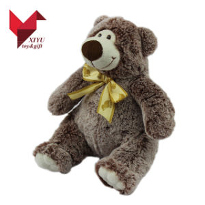 Wholesale Furry 30 Cm Stuffed Plush Teddy Bear with Ribbon