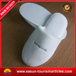 Promotional Shoe Accessories Airline Satin Hotel Disposable Slippers pictures & photos