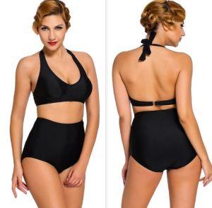 f8cf7fb40c1aa Vintage High Waisted Bathing Suit Bikini, Women′s Retro Halter Bikini Polka  Swimsuits