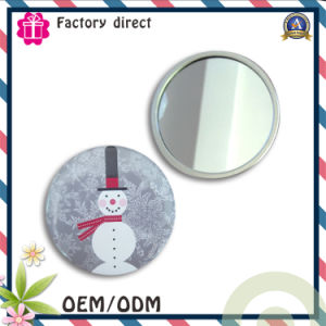 High Quality Personalized Promotion Gift Metal Tin Hand Mirror, Makeup Mirror pictures & photos