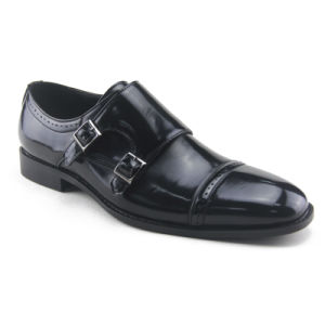 Men′s Dress Shoes Made by New Patent PU  (HDS-Q01)