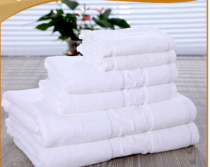 China Supplier Jacquard 400GSM Washcloth Hotel Bath Towel Set pictures & photos