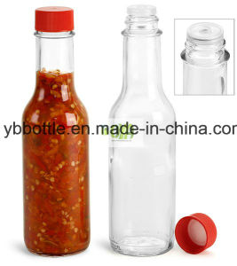 Glass Round Bottle for Chili Sauce Bottle 10oz