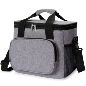 Insulated Lunch Bag Box 15L 24-Can Soft Cooler Bag Thermal Lunch Cooling Bag ...