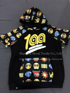 Children′s Cartoon Printing T-Shirt with Hood pictures & photos