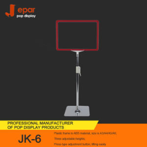 Store Metal Promotional Pop Retail Floor Display Stand for Banner Display