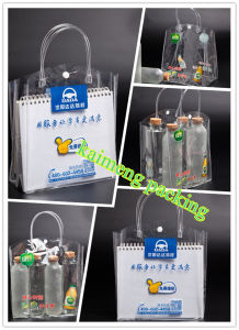 High Quality Clear PP Ladies Bag for Cosmetic Package Design