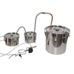 New 30L/8gal Stainless Steel Moonshine Stills Water Distiller Home Brewing Kit with Thump Keg