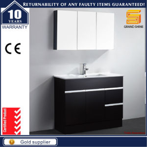 Sanitary Ware Black Lacquer Bathroom Vanity Cabinet With Mirror Cabinet