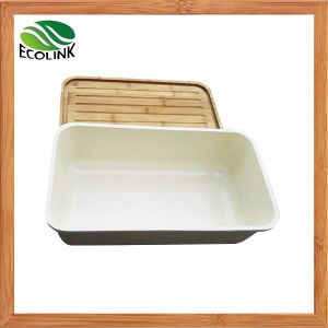 Bamboo Fiber Bread Bin with Bamboo Board Cover pictures & photos
